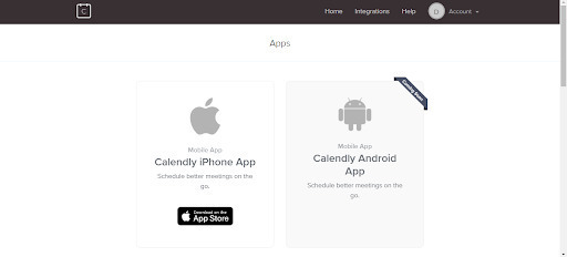 Calendly Mobile App