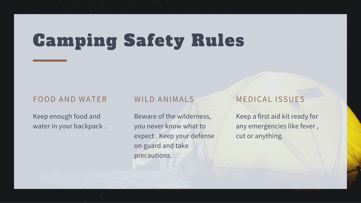 camping safety rules